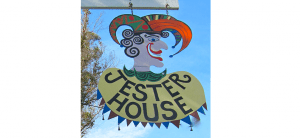 Jester House Café sign