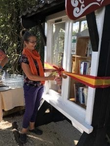 Free Little Library ribbon cutting