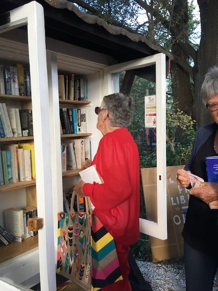 Free little library opening