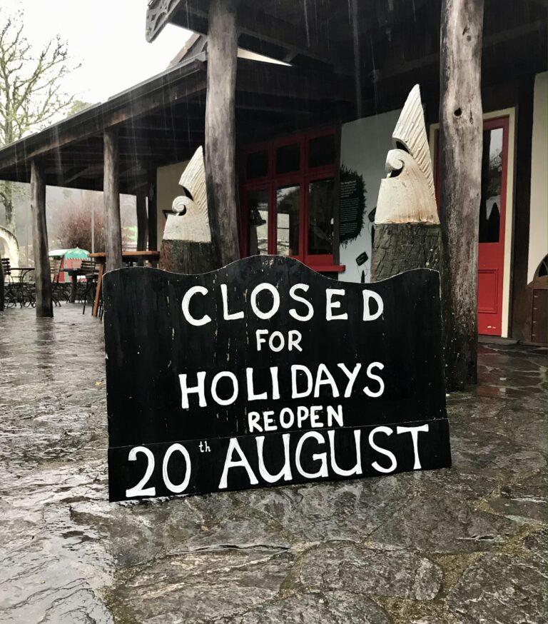 Closed fora winter break
