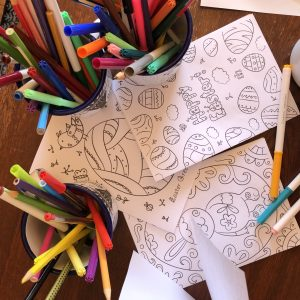 Cards for pre Easter colouring in and sending
